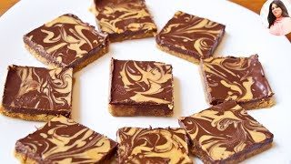 Easy No Bake Chocolate Peanut Butter Bars Recipe, Eggless & Without Oven, Kids Special, desserts.