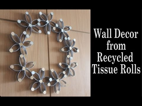 Home Decor Using Empty Tissue paper Roll: Wall Hanging