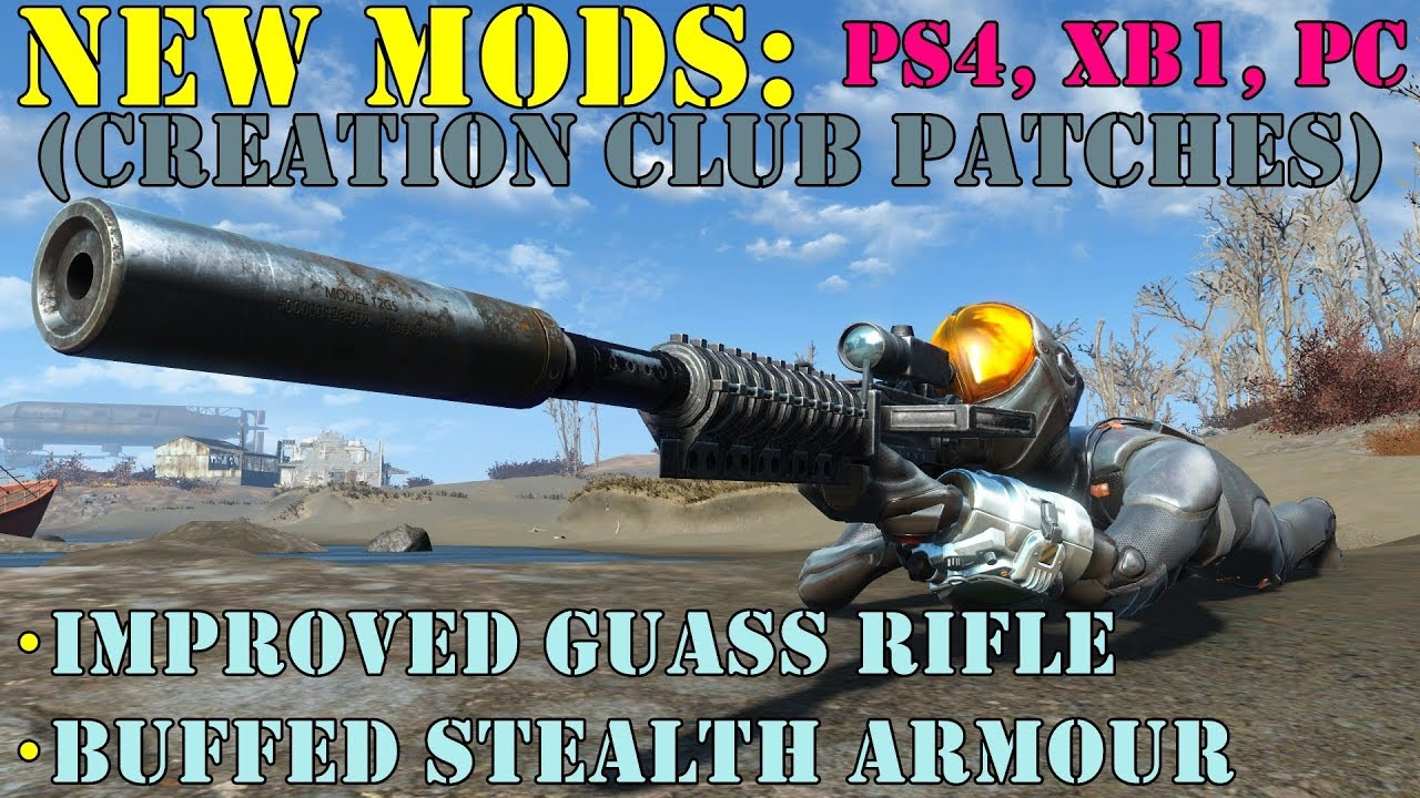 Fallout 4: New Mods: Improved Prototype Gauss Rifle + Buffed Stealth Armour