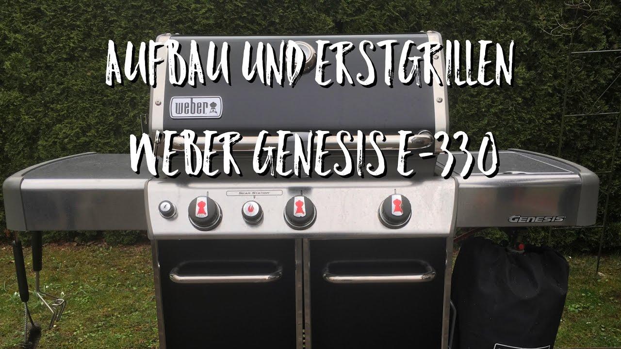 Weber Holzkohlegrill Gebrauchsanleitung : Aufbau und erstgrillen weber genesis e youtube