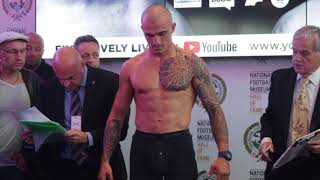 JIMMY KELLY v STILLYAN KOSTOV -  OFFICIAL WEIGH IN & HEAD TO HEAD / PARKER v FURY