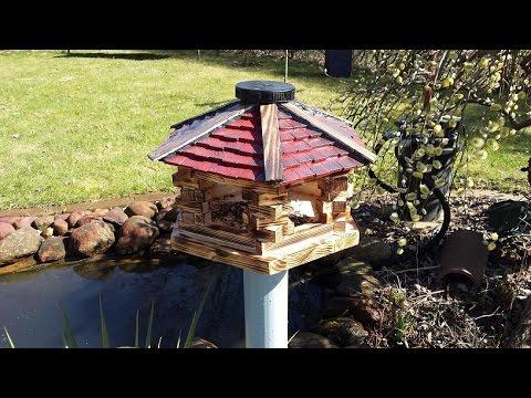Vogel Futterhaus Selber Bauen Deko Garten Balkon  YouTube