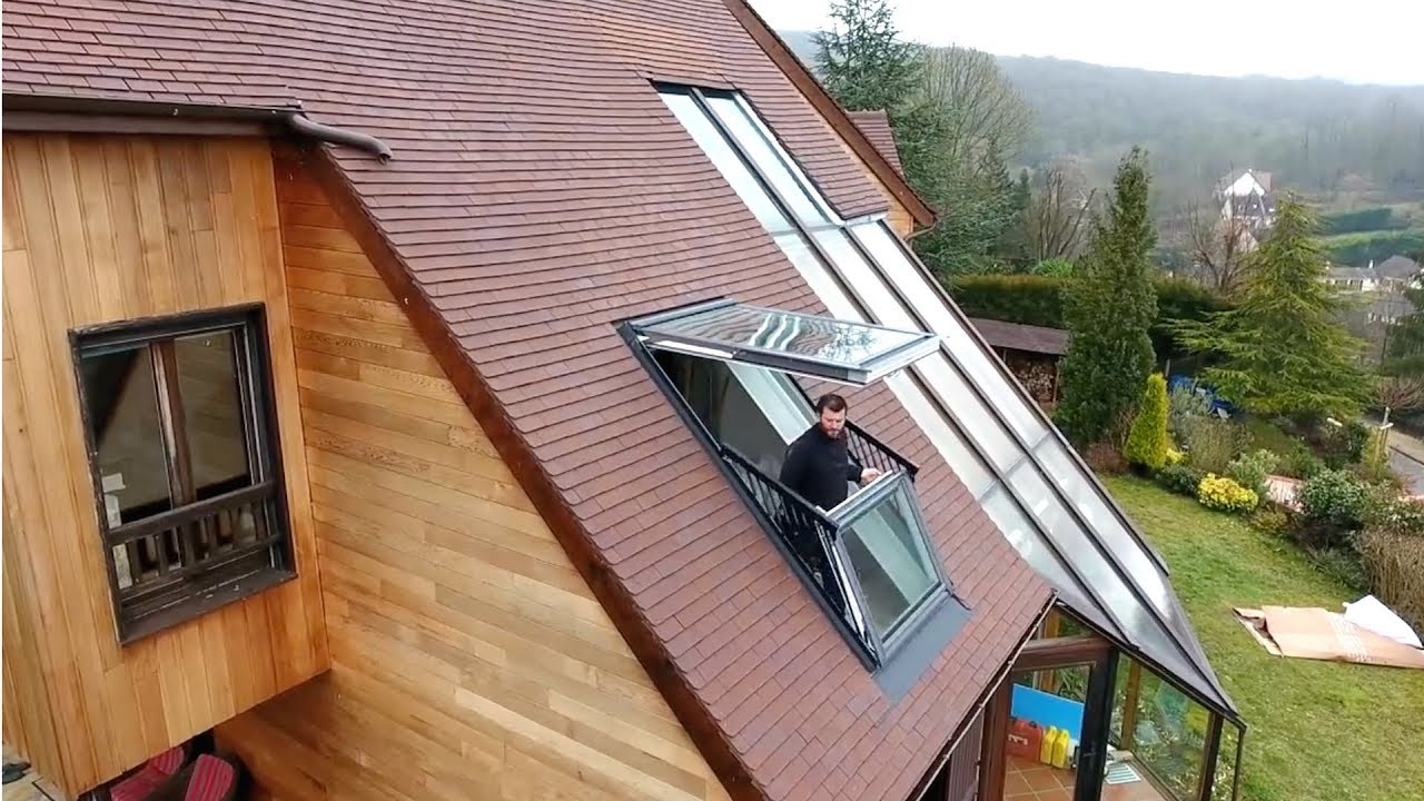 mach dein dachfenster zum balkon velux cabrio youtube. Black Bedroom Furniture Sets. Home Design Ideas