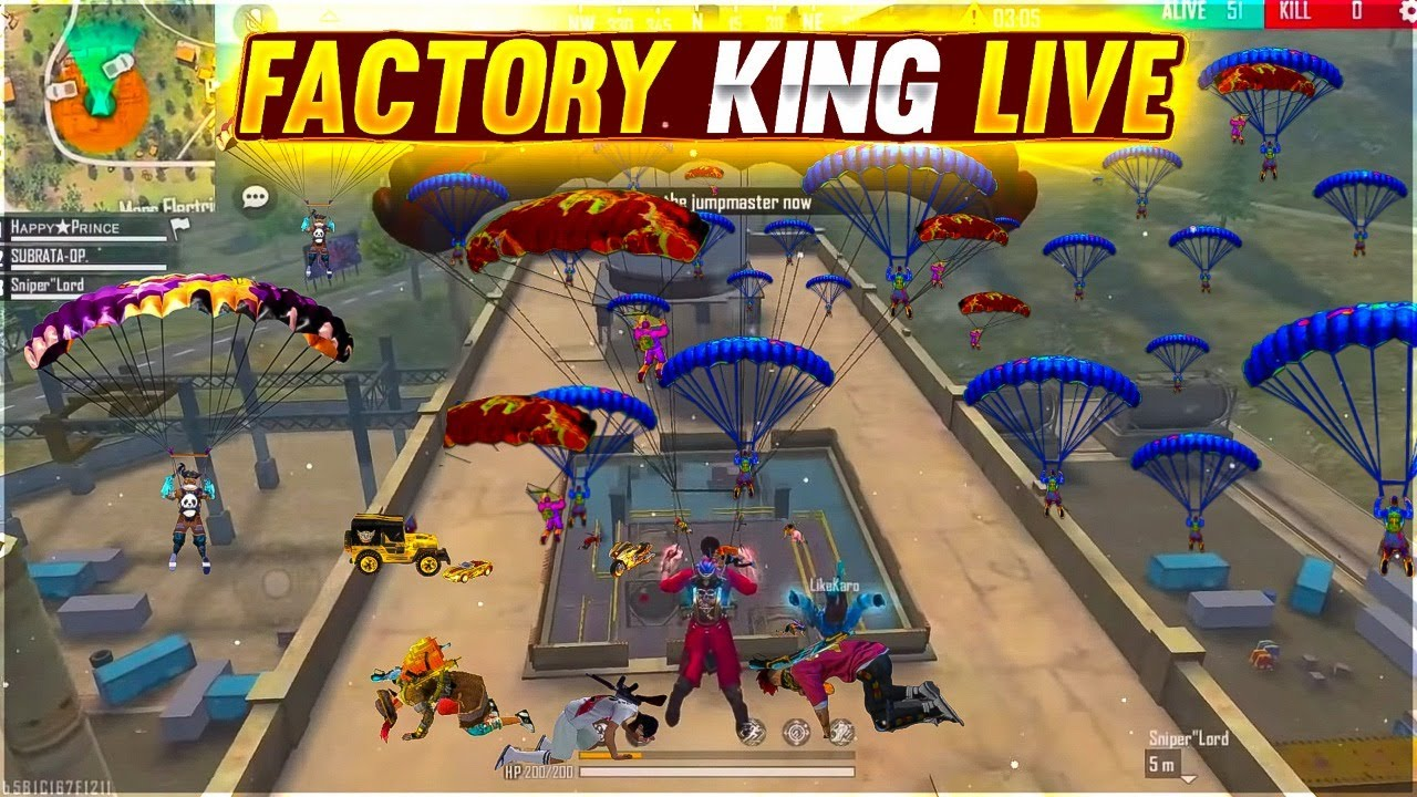 PLAYING WITH RaiStar + FACTORY ROOF- Garena free fire