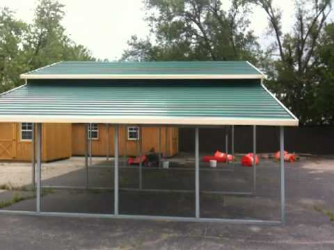 Garden sheds portable buildings prefab garages metal for Garages and carports
