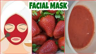 Summer Facial Mask Strawberry Face Mask Fresh Clear Glowing Skin