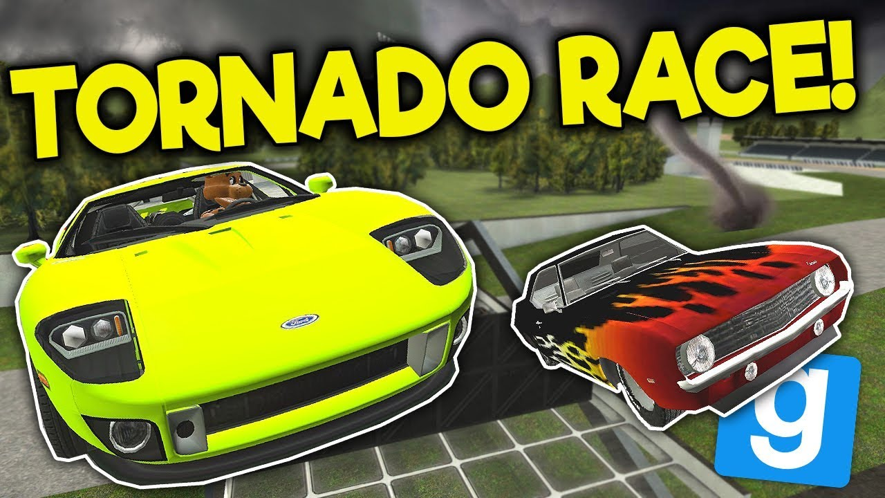 STUNT RACE ENDS IN TORNADO SURVIVAL! - Garry's Mod Gameplay - Gmod FNAF Roleplay Survival