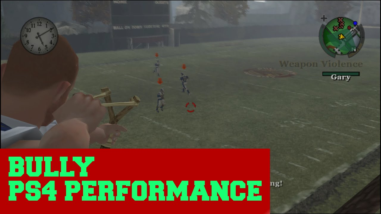 Bully - PS4 Performance Showcase - Gameplay 1080p 60fps