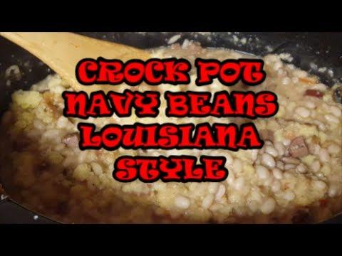 Crock Pot Navy Beans Louisiana Style