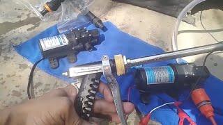 12v DC 80w Car Washer Pump Portable Pressure Pump Testing with Multiple Water Gun