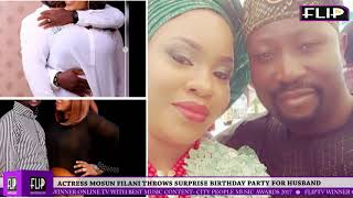 ACTRESS MOSUN FILANI THROWS SURPRISE BIRTHDAY PARTY FOR HUSBAND