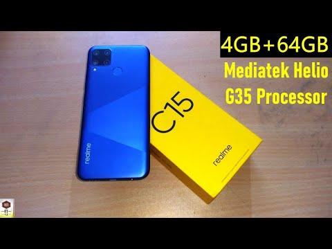Realme C15 Power Blue SmartPhone Unboxing |4GB + 64GB with Mediatek Helio G35 Gaming Octa Processor