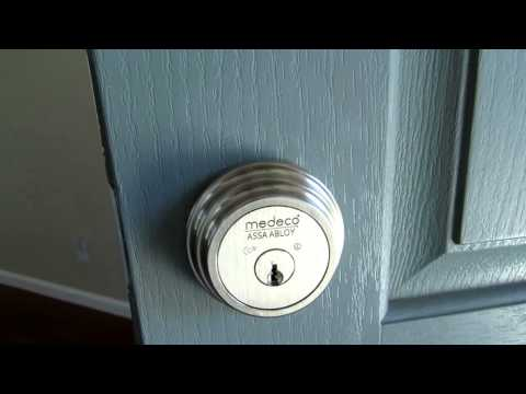 Medeco Maxum High Security Single Cylinder Deadbolt Lock for