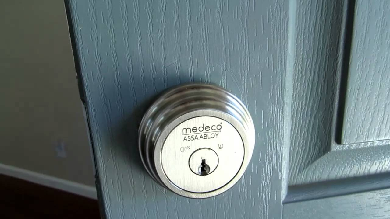 Medeco Maxum High Security Single Cylinder Deadbolt Lock