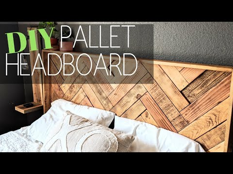DIY HEADBOARD TUTORIAL | DIY HOME DECOR | PALLET FURNITURE