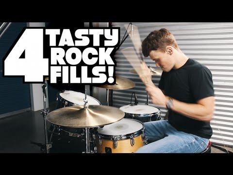 4 Tasty Rock Fills | Drum Lesson