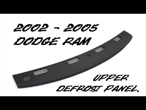2002 2003 2004 2005 DODGE RAM UPPER DASH DEFROST VENT PANEL REMOVAL, HOW TO REMOVE 1500 2500 3500