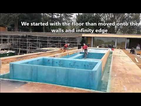 Affordable Pools Custom Fiberglass Infinity Roof Top Pool BelAIr CA