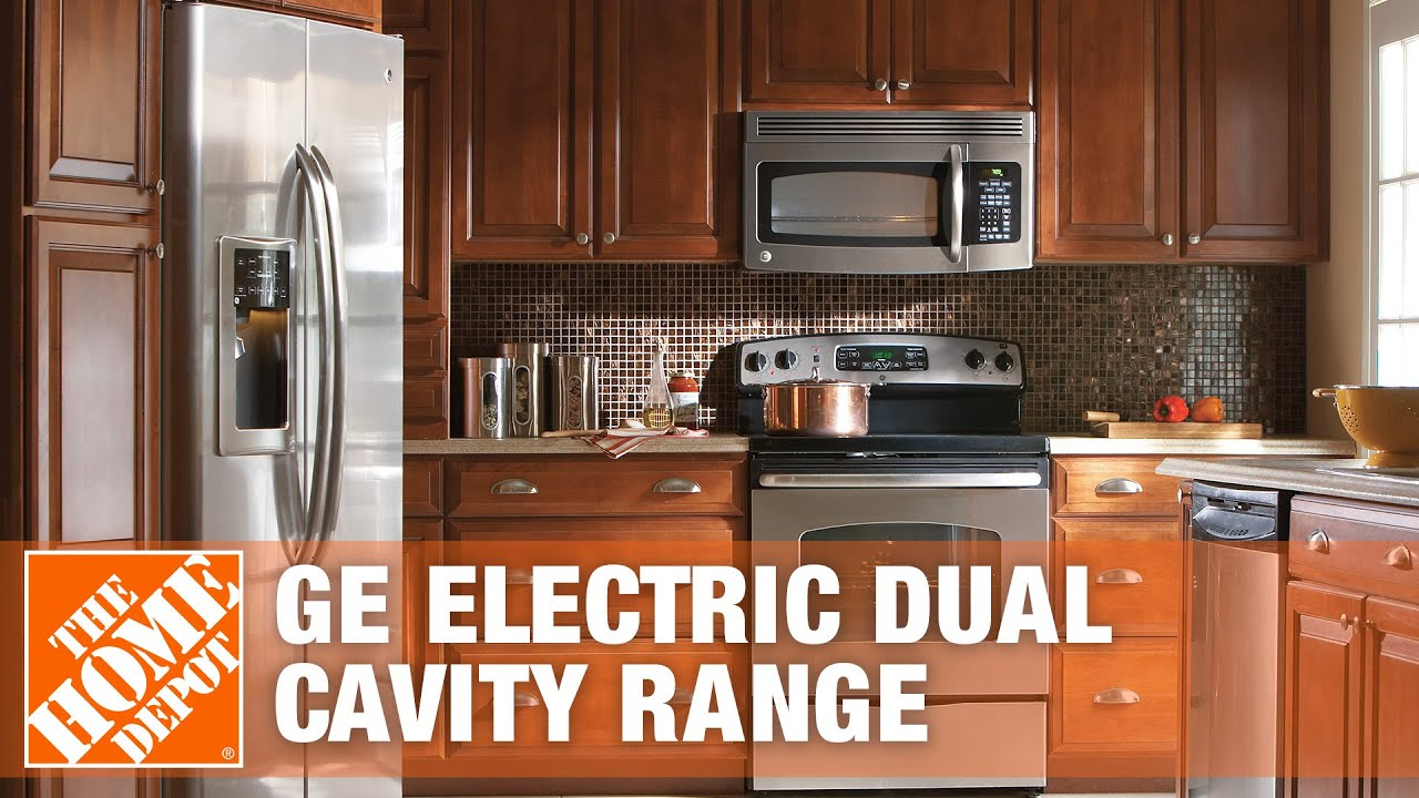 Ge Freestanding Electric Dual Cavity Range The Home Depot