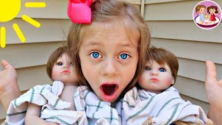 😨WHAT⁉️ 2 BABY DOLLS DROPPED OFF at our HOUSE‼️ 👶🏻👶🏼