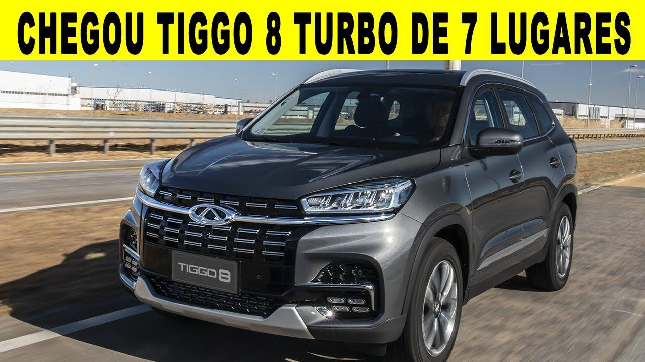 CHEGOU NOVO SUV TIGGO 8 COM 7 LUGARES 1.6 TURBO COM 187 CV - UM LUXO DE SUV