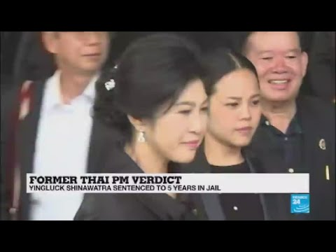 Thailand: Ex-PM Yingluck Shinawatra sentenced in absentia to five years in prison