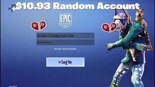 Fortnite Random Ebay account