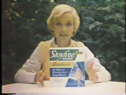 Cathy Rigby 1980 Stayfree Maxi Pads Commercial