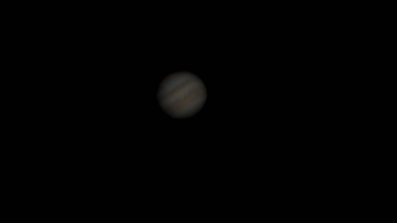 Jupiter and its moons through my 12 inch telescope - YouTube