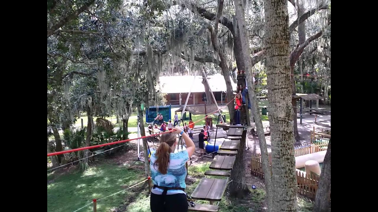 Merveilleux 20141012 Zip Line At ZOOm Air Located At The Central Florida Zoo And Botanical  Gardens Part 1   YouTube