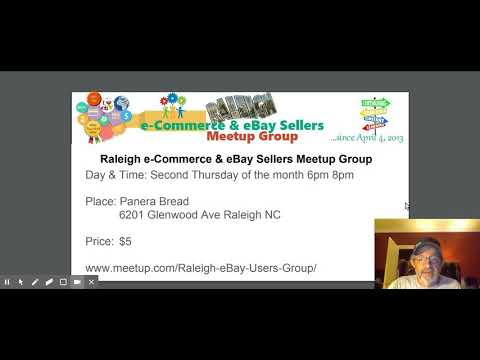 Raleigh eBay e-commerce Sellers Meetup Group August 2017