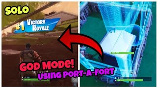 Fortnite Glitches Season 5 (New) God Mode Using Port-A-Fort PS4/Xbox one 2018