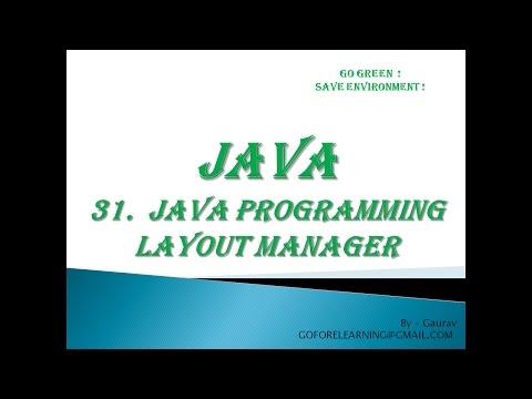 JAVA PROGRAMMING LAYOUT MANAGER