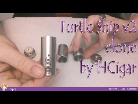 [vape] Turtleship V2 ~ Clone By HCigar ~ Mechanical Mod Review