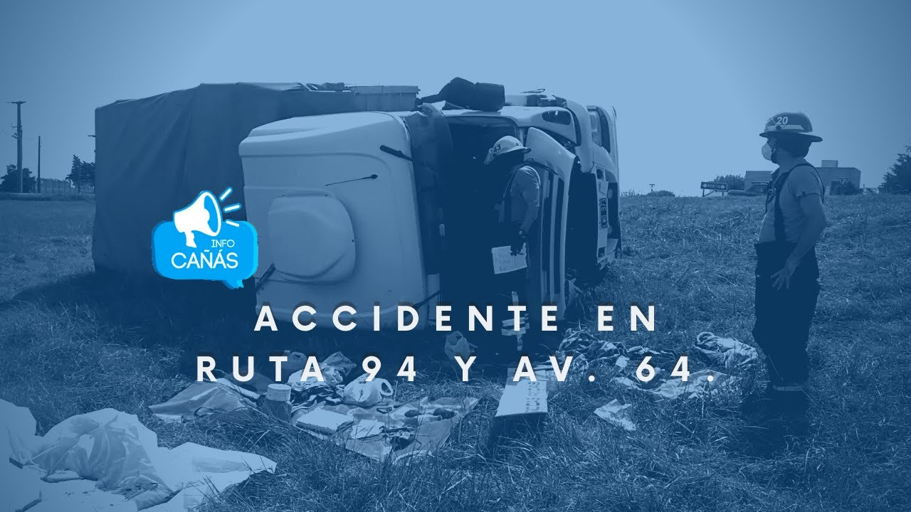 Accidente en ruta 94 y Av. 64