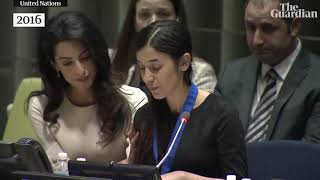 Nobel peace prize joint winner Nadia Murad's powerful 2016 speech to the UN