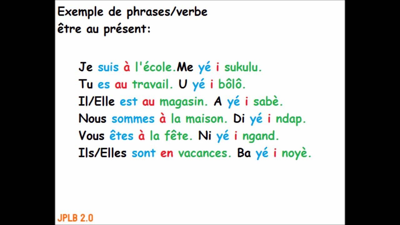 Exemple de phrases/ verbe être au présent - YouTube