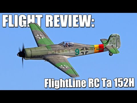 Assembly & Flight Review (w/weathering & paint tips!) -- FlightLine RC Ta 152H 1300mm Wingspan