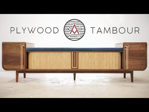 Patterned Plywood Tambour