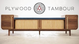 Patterned Plywood Tambour Bench