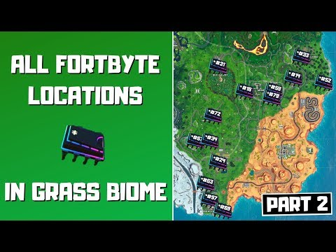 All Fortbyte Locations in The Grass Biome (Part 2)!  - Fortbyte Challenges Season 9