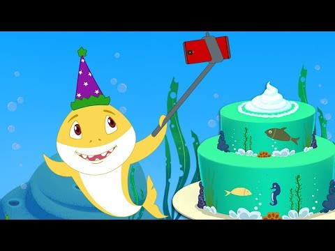 Baby Shark Happy Birthday Song + Sharks doo doo doo doo songs & poems collection by Fun For kids TV