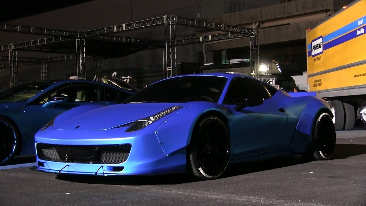 justin biebers ferrari 458 liberty walk by west coast