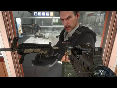 COD MW2 - What Happens If You Stop Makarov On No Russian?