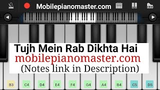 Tujh Mein Rab Dikhta Hai Piano Tutorial || Rab Ne Bana Di Jodi || Shahrukh khan || -Mobile Piano