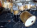 Cover image Overview - MONSTER DRUM KIT - Diagonal Black Limba Over Mahogany
