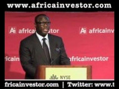 Hubert Danso, CEO, Africa investor, introduces H.E. Yoweri Museveni, President of Uganda