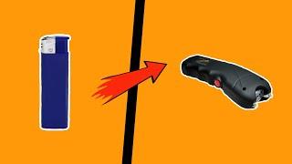 как сделать простой электрошокер из зажигалки