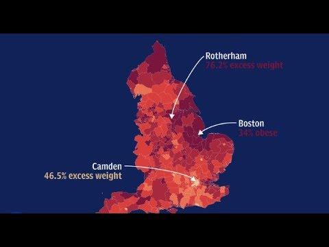 England's obesity hotspots  how does your area compare