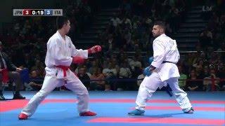 FINAL. Luigi BUSA vs Ryuichi TANI. 2014 World Karate Championships. Male Kumite -75kg